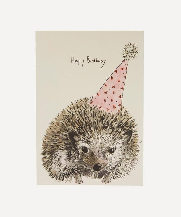 Max Made Me Do It - Party Hedgehog Birthday Card