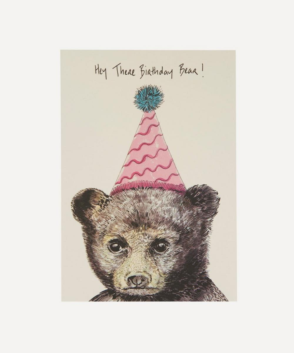 Max Made Me Do It - Party Bear Birthday Card