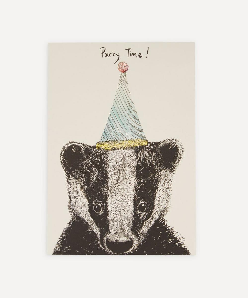 Max Made Me Do It - Party Badger Birthday Card