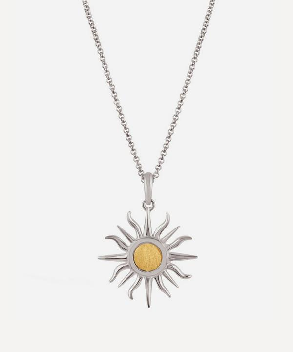 Dinny Hall - Silver and Gold Sun Charm Pendant Necklace