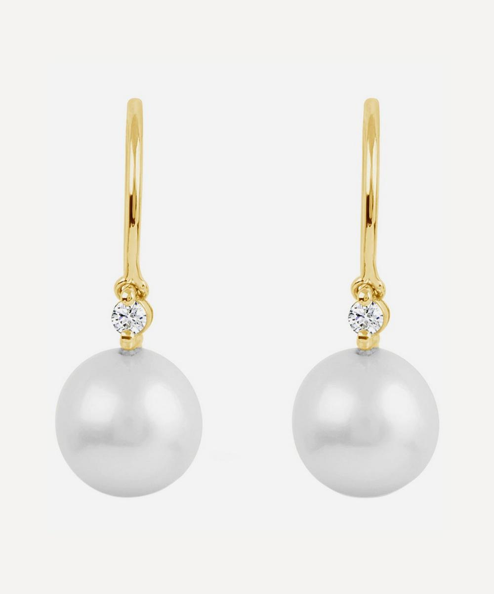 Dinny Hall - Gold Shuga Pearl and Diamond Drop Earrings