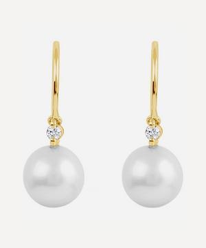 Gold Shuga Pearl and Diamond Drop Earrings