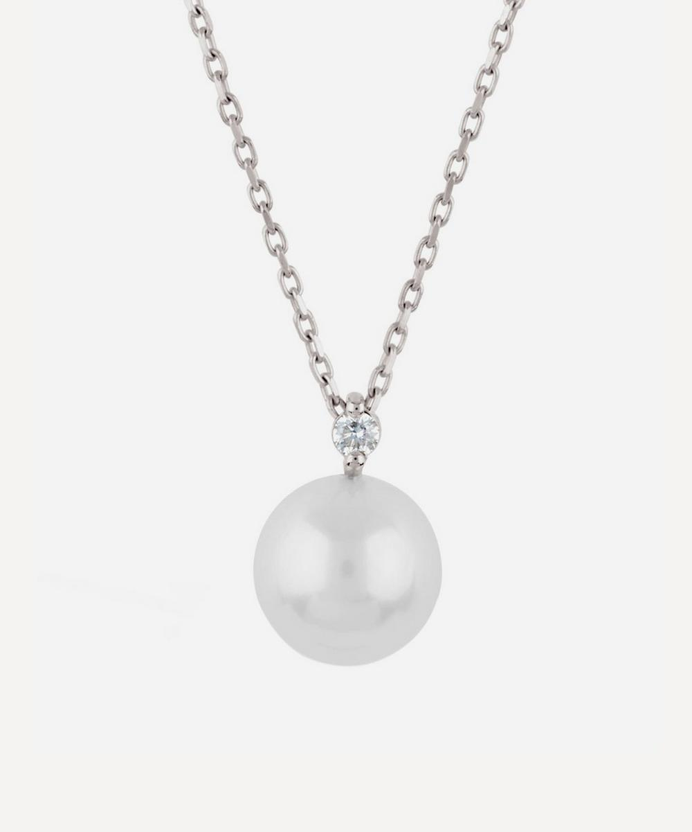 Dinny Hall - White Gold Shuga Pearl and Diamond Pendant Necklace