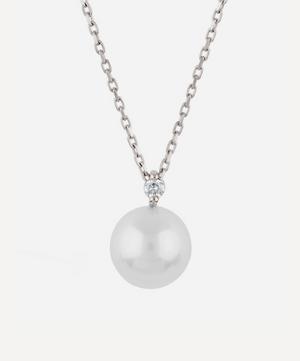 White Gold Shuga Pearl and Diamond Pendant Necklace