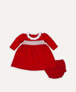 Holiday Smock Dress Set 0-18 Months