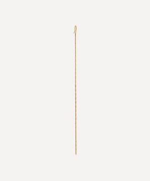Gold Cashmere Single Chain Drop Earring