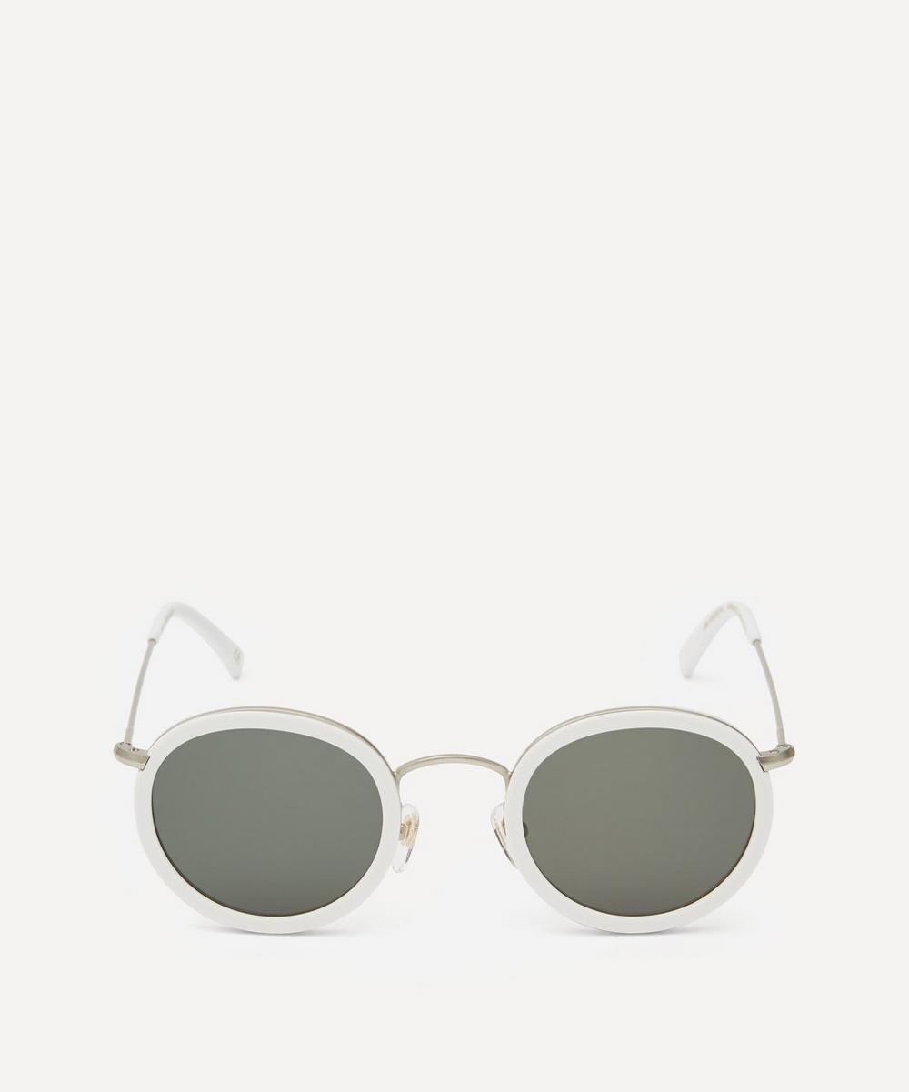 Han Kjobenhavn - Drum Round Acetate Metal Sunglasses