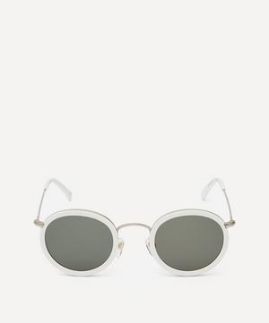 Drum Round Acetate Metal Sunglasses