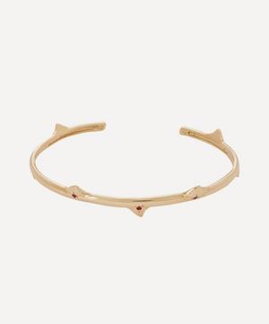 Gold La Vie En Rose Ruby Cuff Bracelet