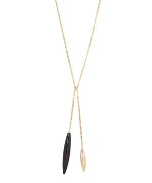 Gold Close To Me Onyx Necklace