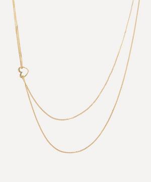 Gold Darling Short Heart Pendant Necklace