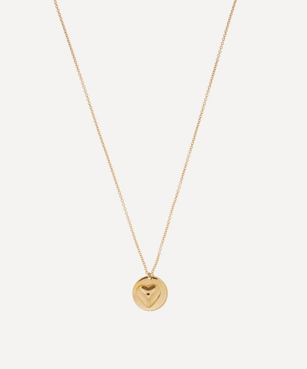Atelier VM - Gold Mignon Small Heart Pendant Necklace image number 0