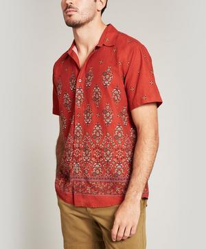 Liana Linen-Blend Short-Sleeved Lasenby Shirt