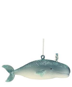 Glass Whale Ornament