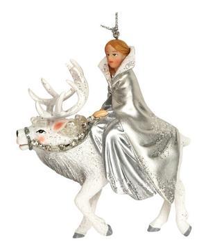 Princess on Stag Ornament