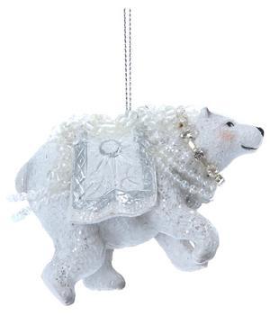 Resin Dress Polar Bear Ornament