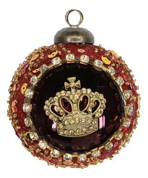 Glass Crown Crest Bauble