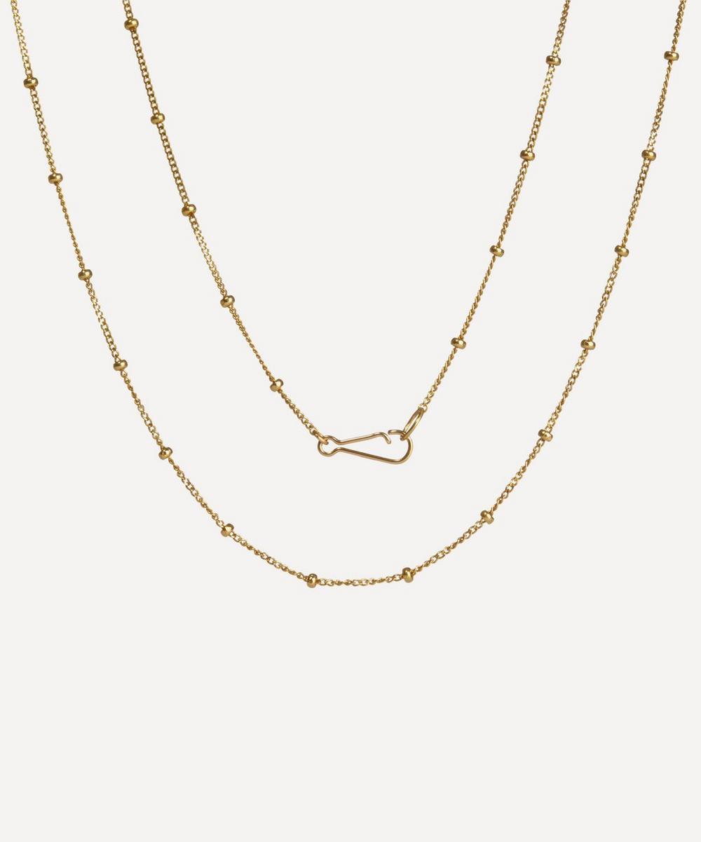 Annoushka - 18ct Gold Saturn Long Chain Necklace