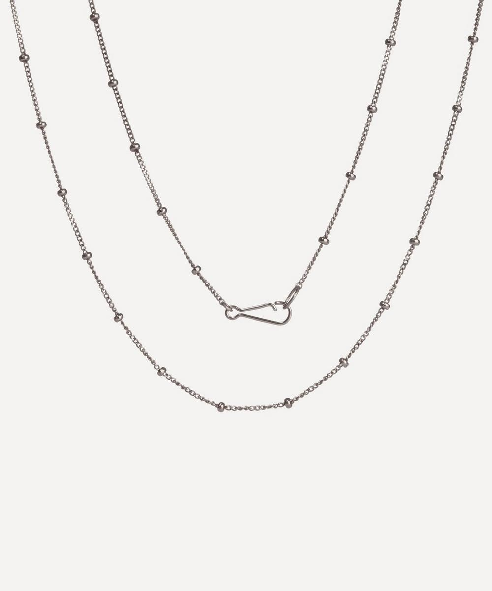 Annoushka - 18ct White Gold Saturn Long Chain Necklace