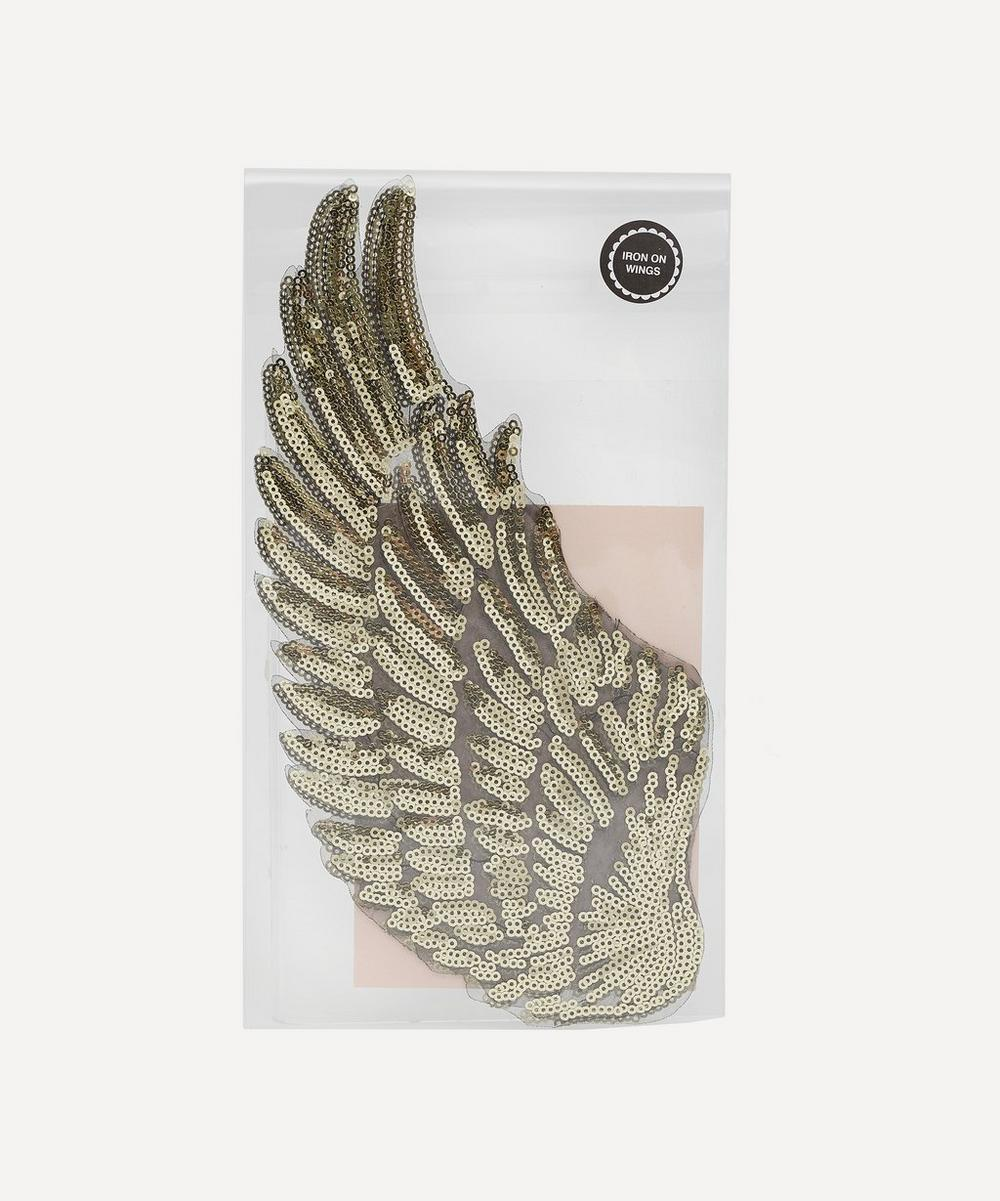 Petra Boase - Large Iron-On Sequin Wings Patch