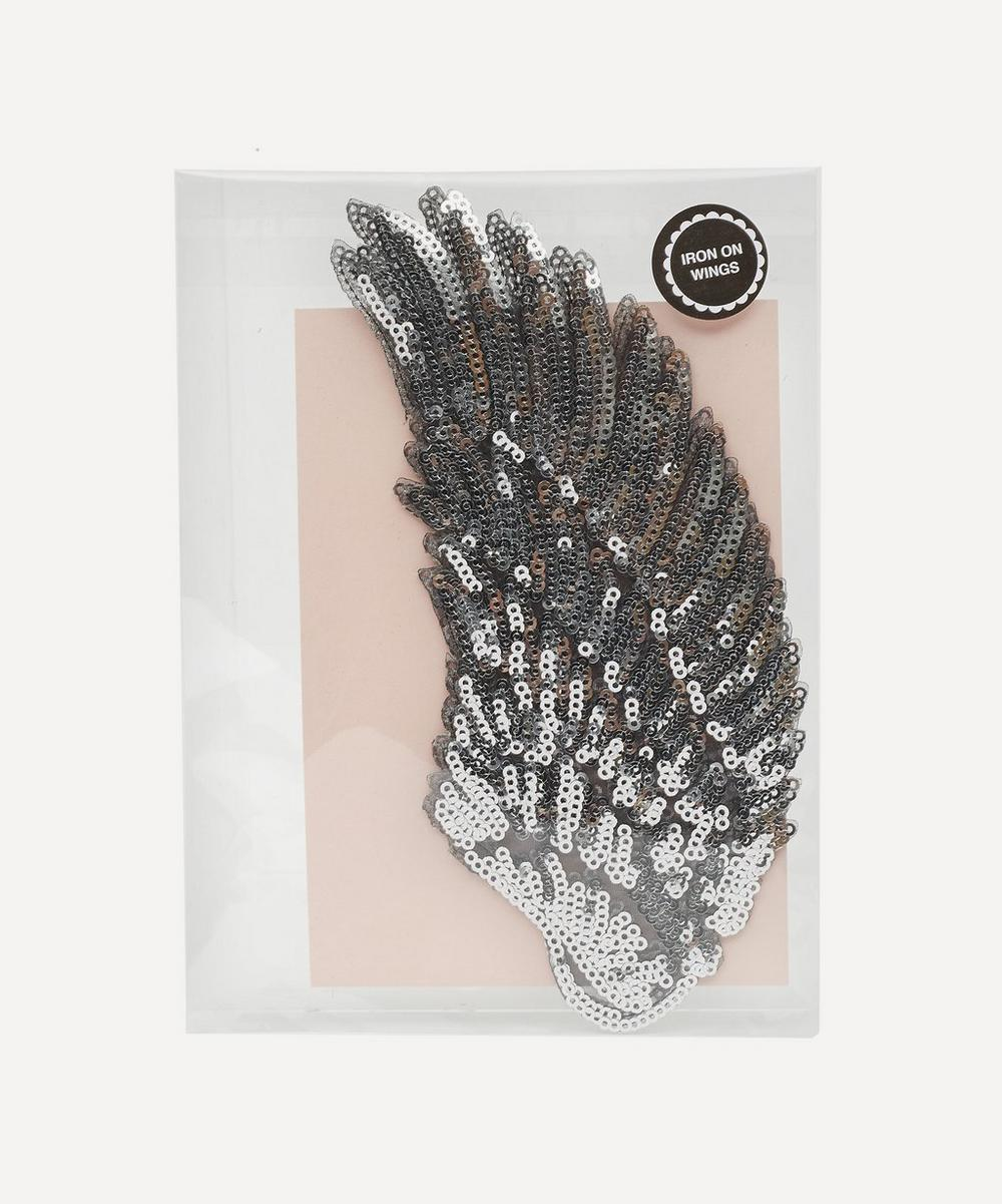 Petra Boase - Small Iron-On Sequin Wings Patch