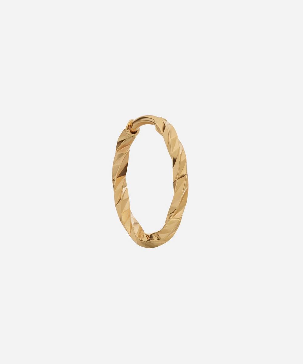 Maria Black - Gold Diamond Cut Huggie Hoop Earring