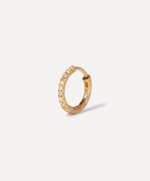 18ct Gold Dusty Diamonds Large Hoop Earring