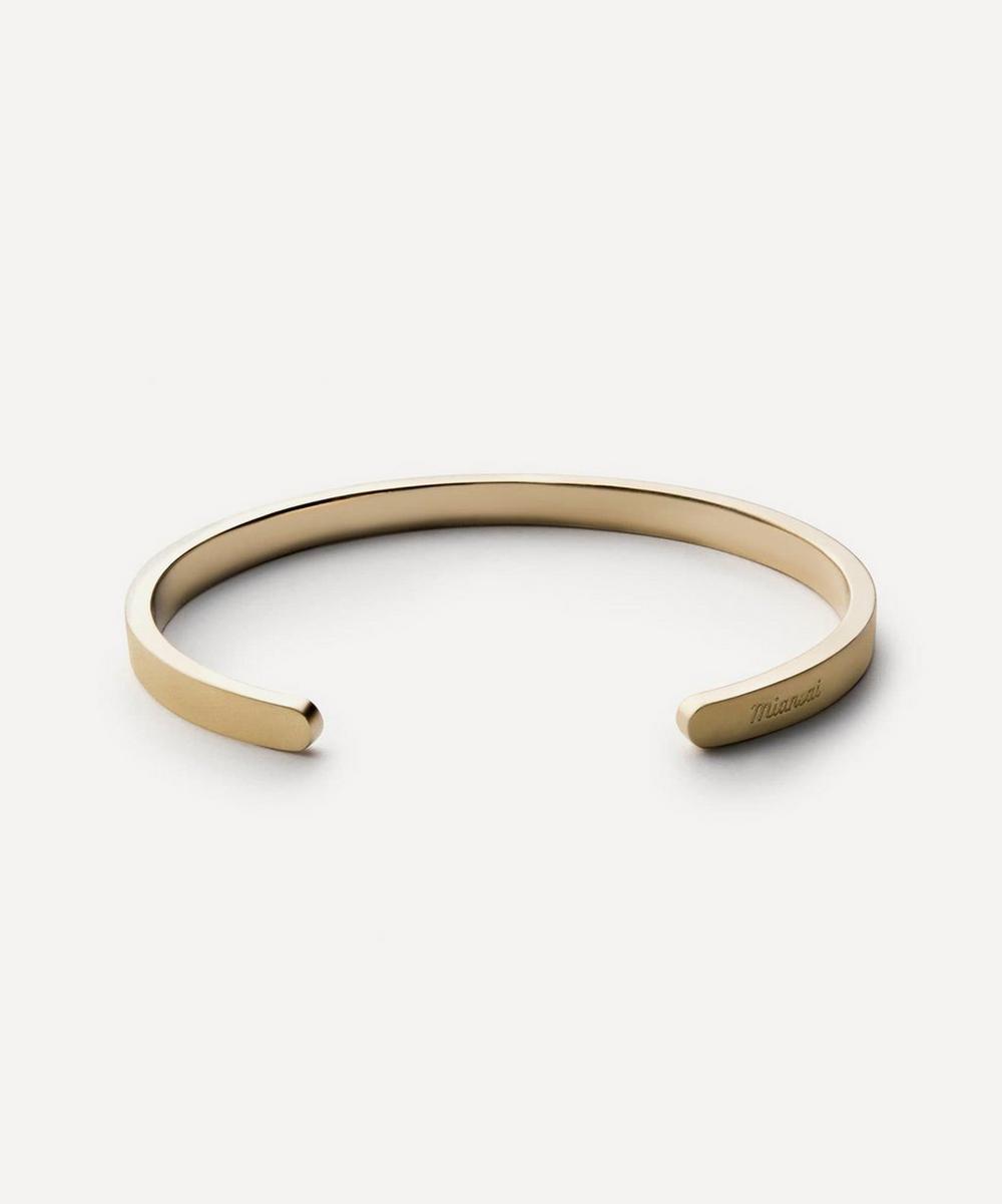 Miansai - Matte Brass Singular Cuff Bracelet