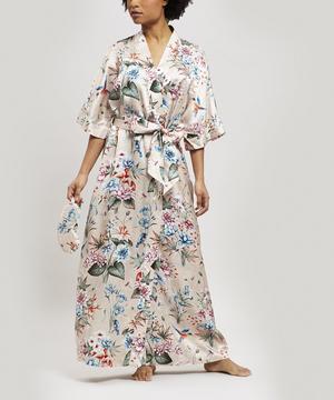 Keiko Silk Charmeuse Long Kimono