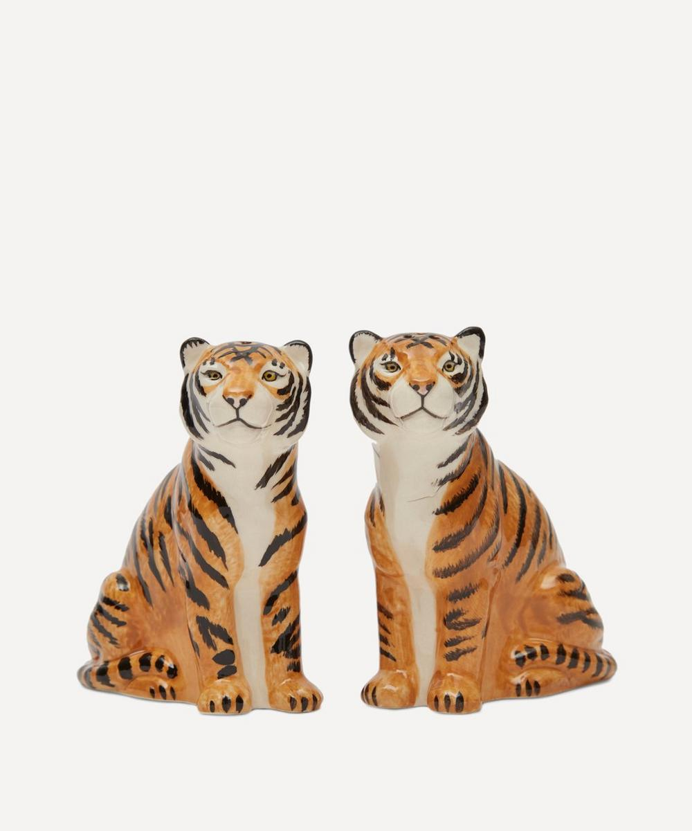 Quail - Tiger Salt and Pepper Shakers