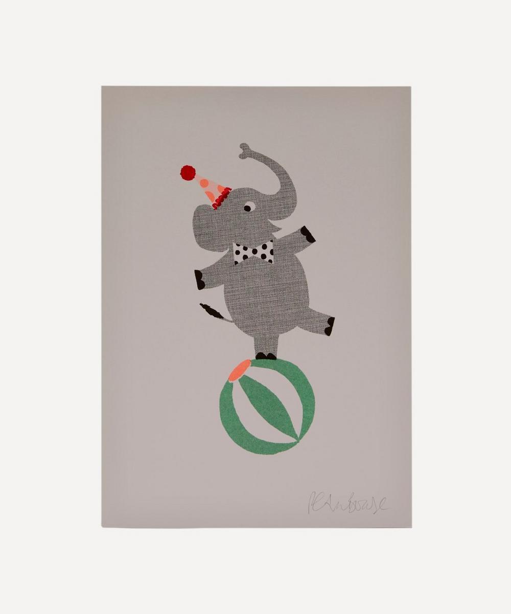 Petra Boase - Elephant Risograph Print