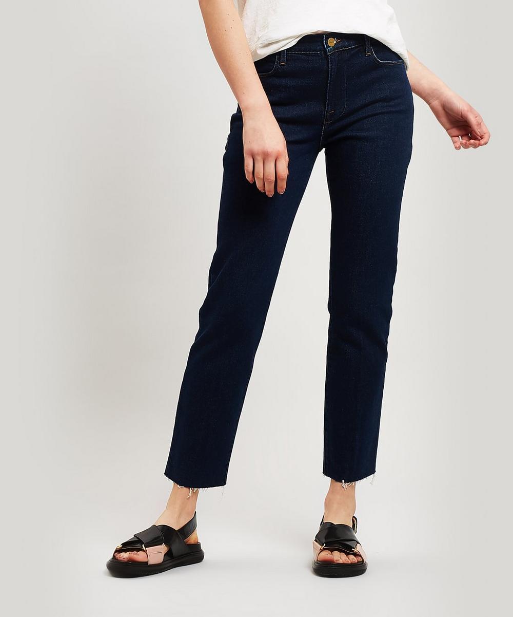 Frame - Le High Raw-Edge Straight Jeans
