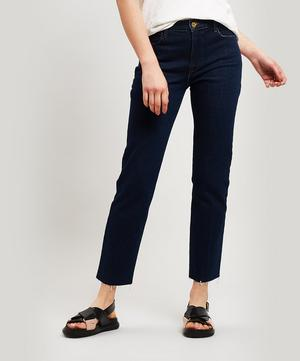 Le High Raw-Edge Straight Jeans