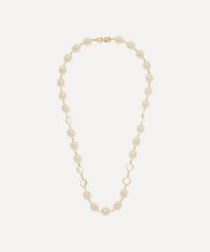 Gold-Plated Givenchy Crystal and Faux Pearl Necklace