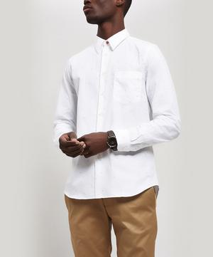 Marl Cotton And Linen Shirt