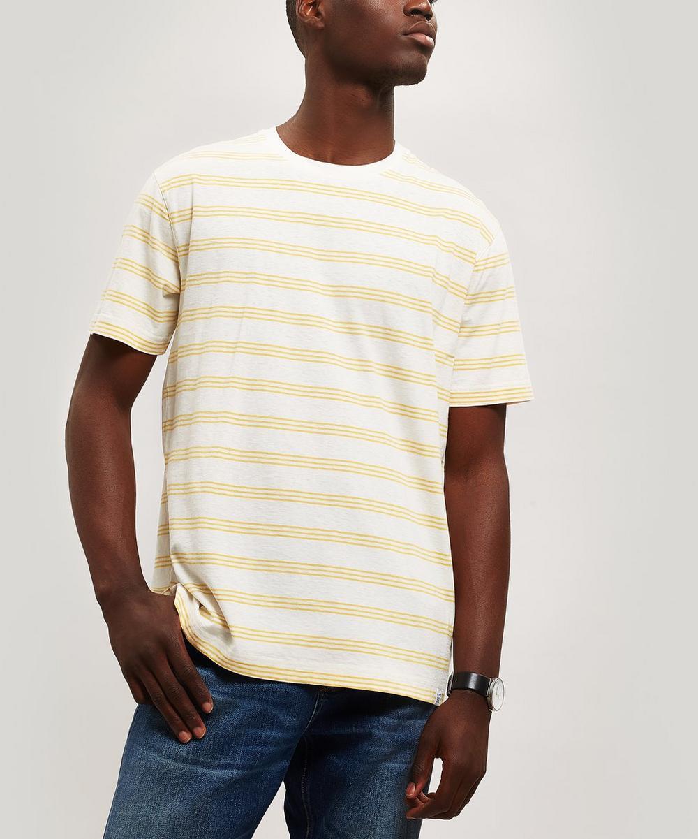 Norse Projects - Johannes Cotton Linen Stripe T-Shirt