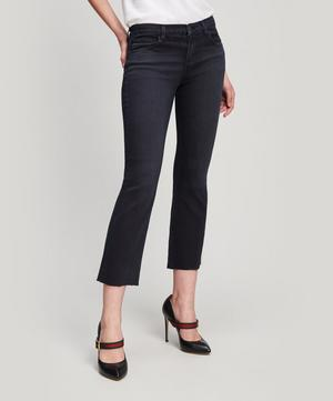 Selena Mid-Rise Crop Flare Jeans
