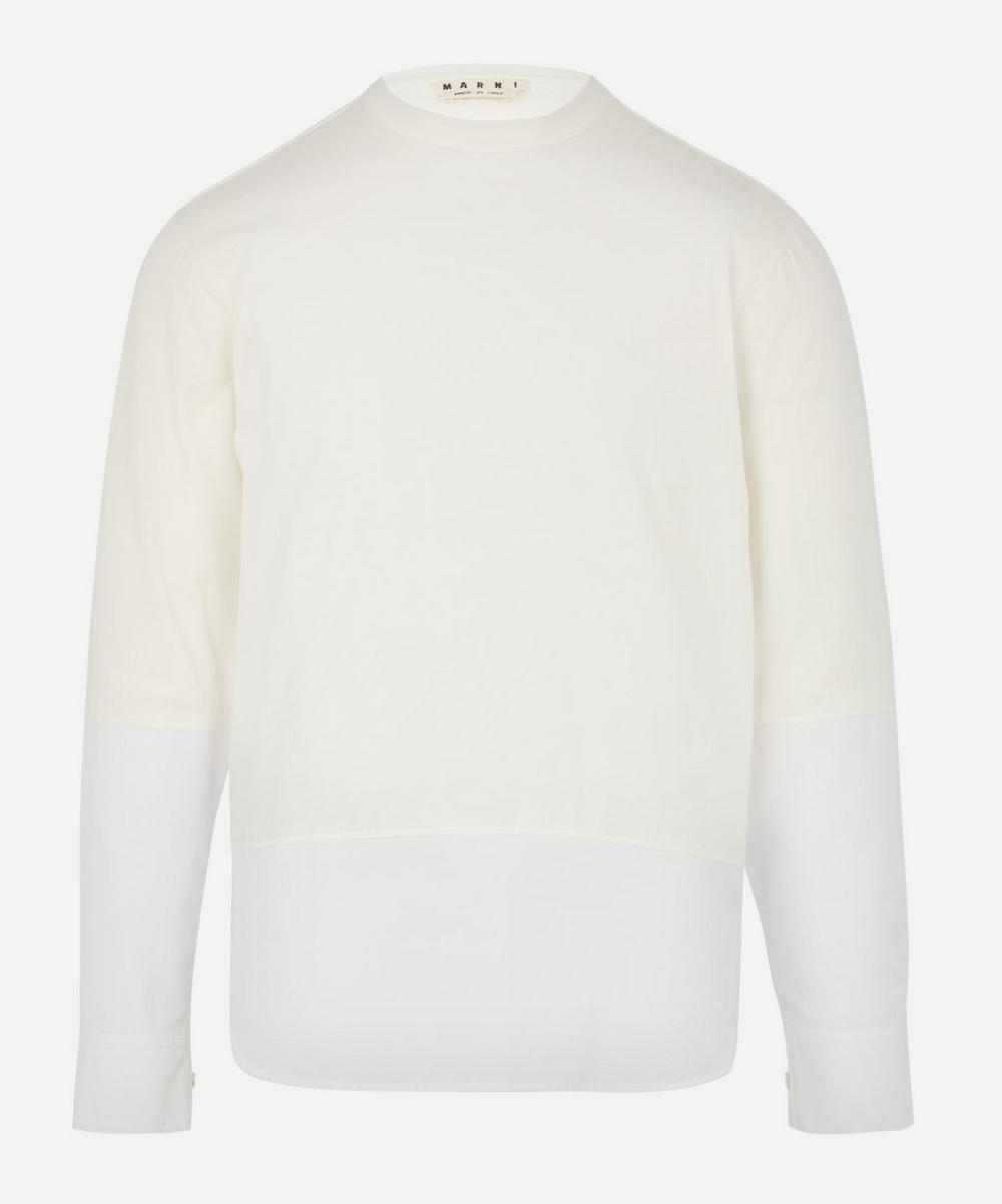 Marni - Long Sleeve Contrasting T-Shirt