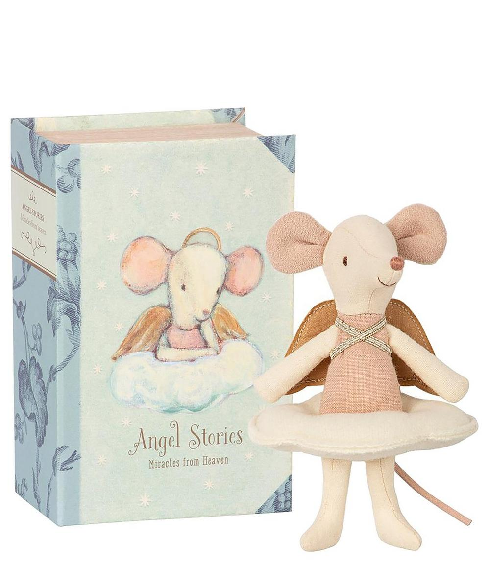 Maileg - Angel Mouse Big Sister In Book