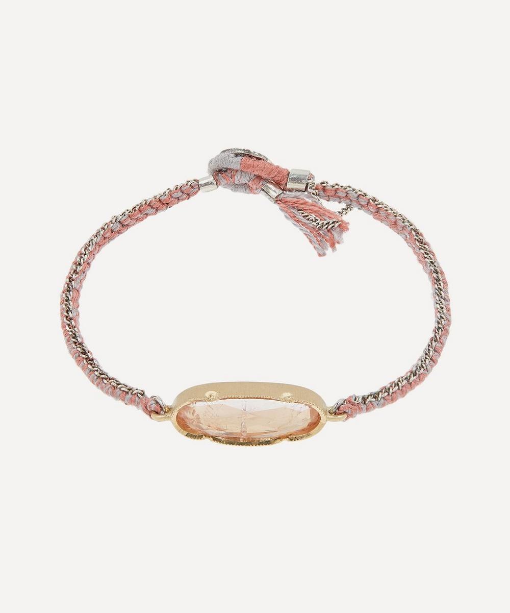 Brooke Gregson - Gold Icicle Morganite Silk Chain Bracelet