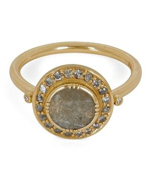 Gold Galaxy Diamond Slice Ring