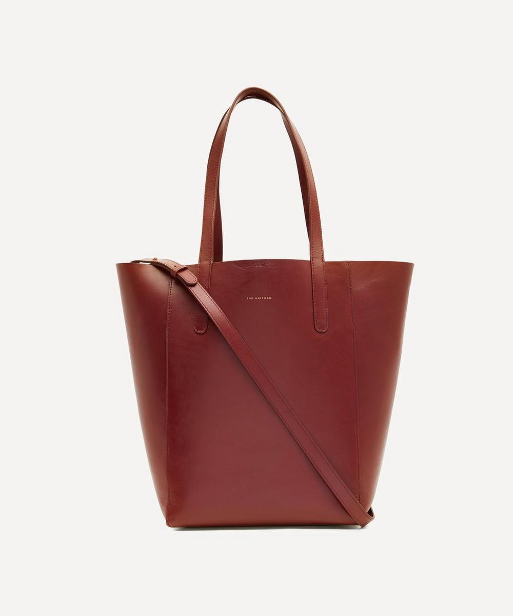 THE UNIFORM - Large Leather Bucket Bag