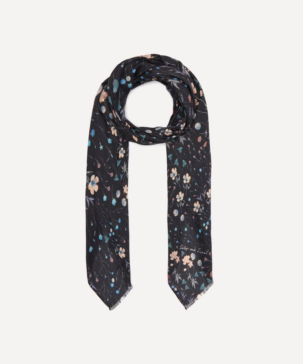 Lily and Lionel - Night Garden Modal-Blend Scarf