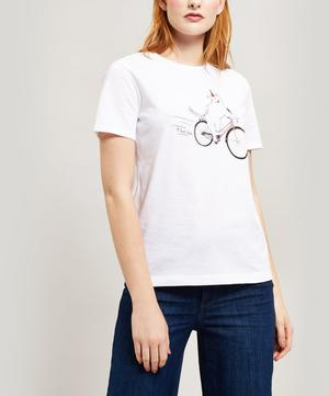 Cycling Dog Cotton T-Shirt