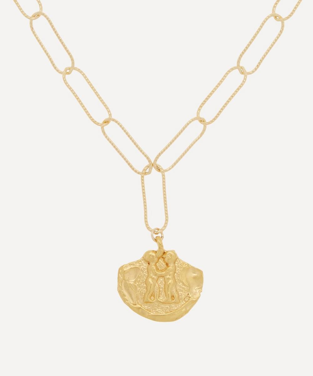Alighieri - Gold-Plated Paola and Francesca Necklace