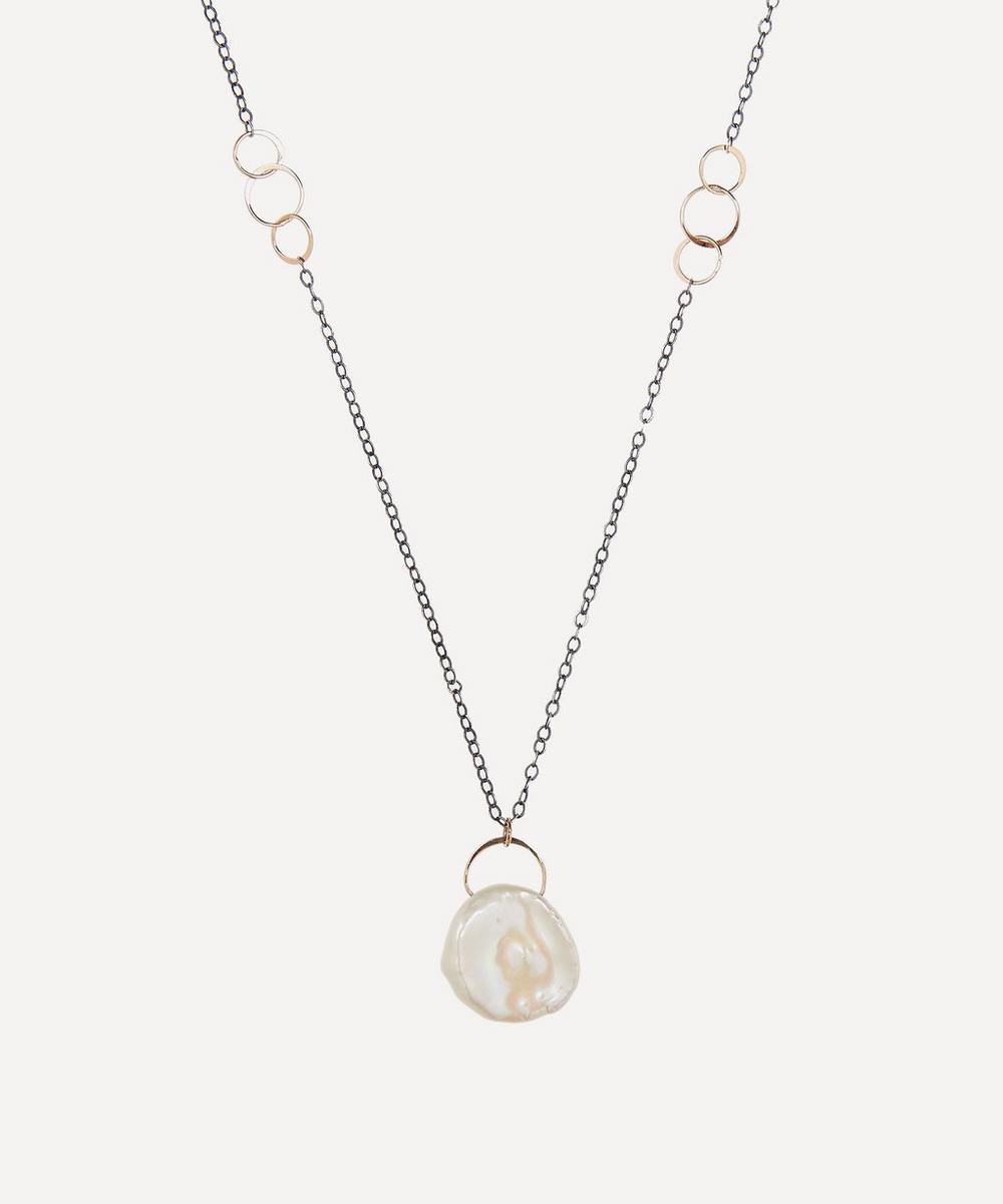Melissa Joy Manning - Gold Pearl Drop Necklace