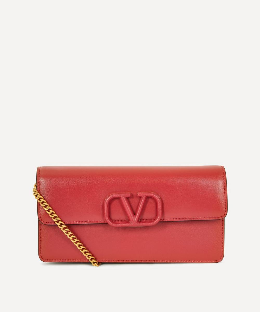 Valentino Garavani - V-Sling Leather Clutch Bag