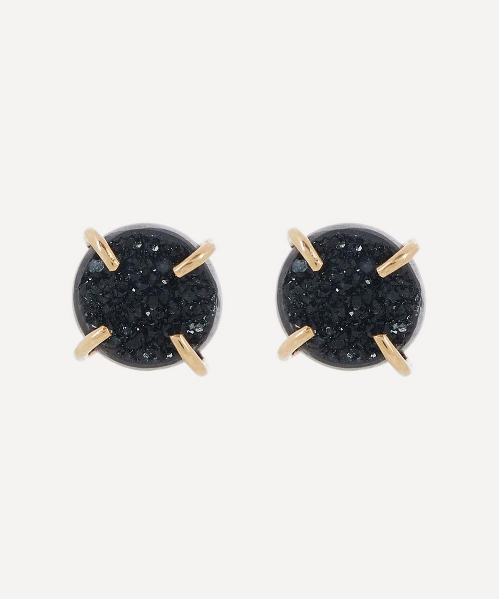 Melissa Joy Manning - Gold Black Druzy Stud Earrings