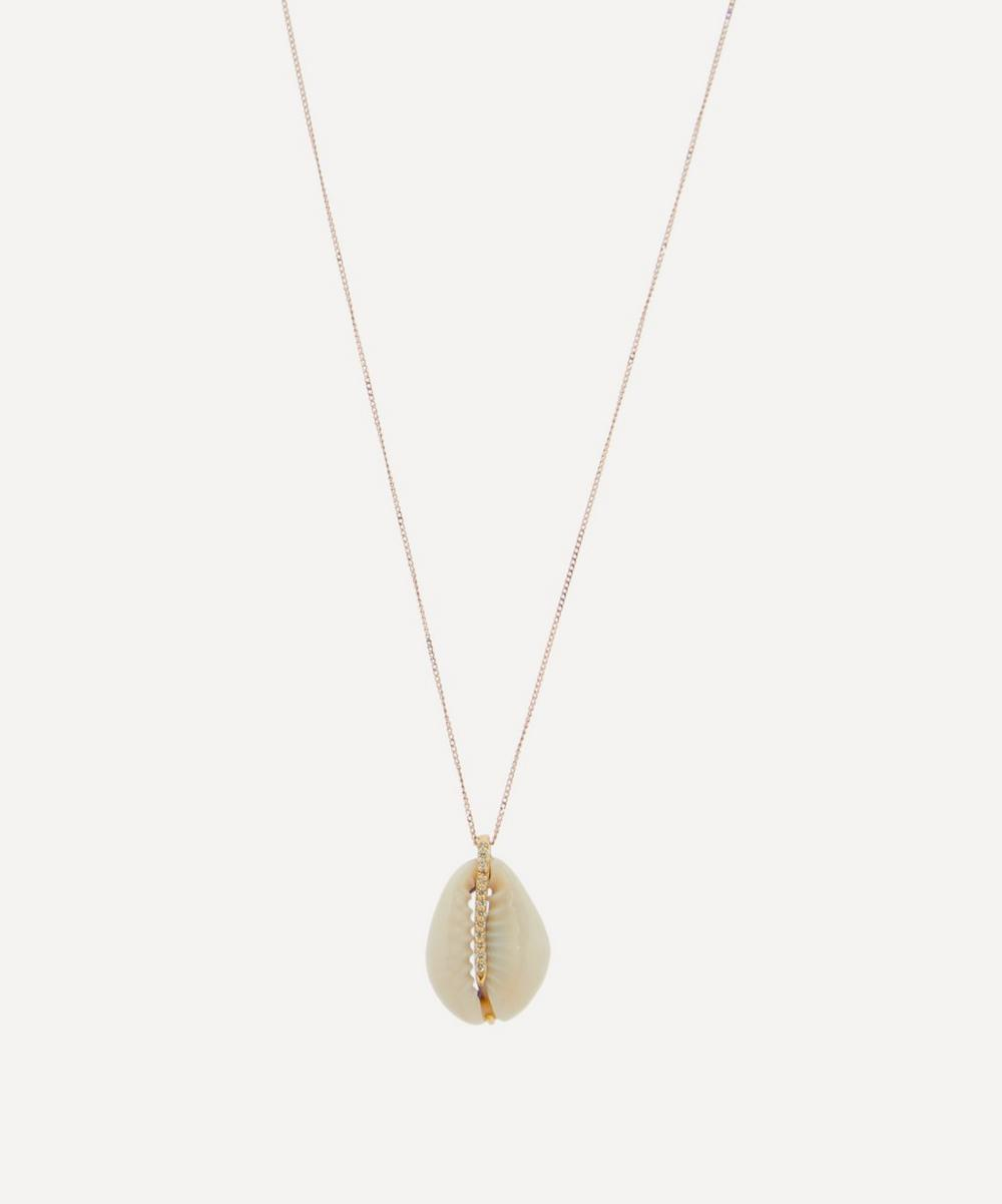 Pascale Monvoisin - Rose Gold Cauri Diamond Shell Pendant Necklace