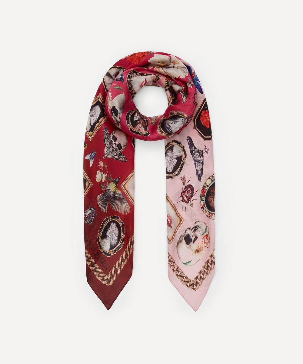 Alexander McQueen - Cameo and Curiosities Silk Scarf